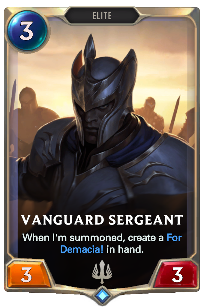 Vanguard Sergeant Card Image