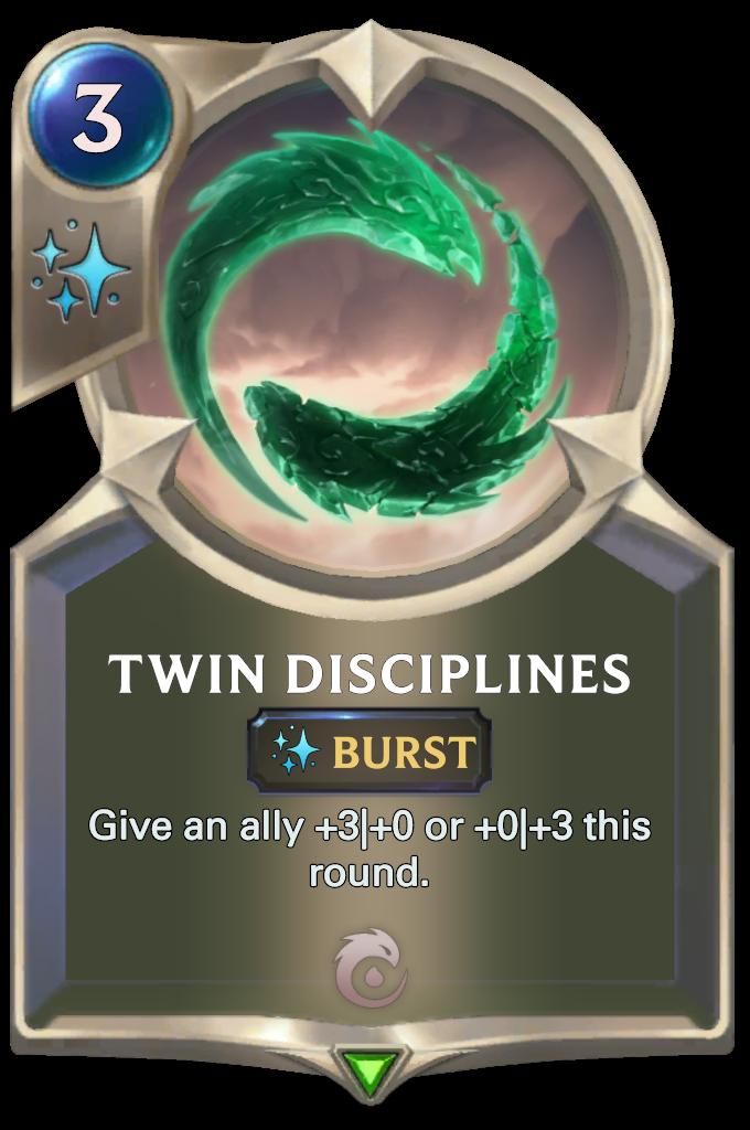 Legends of Runeterra Twin Disciplines Card