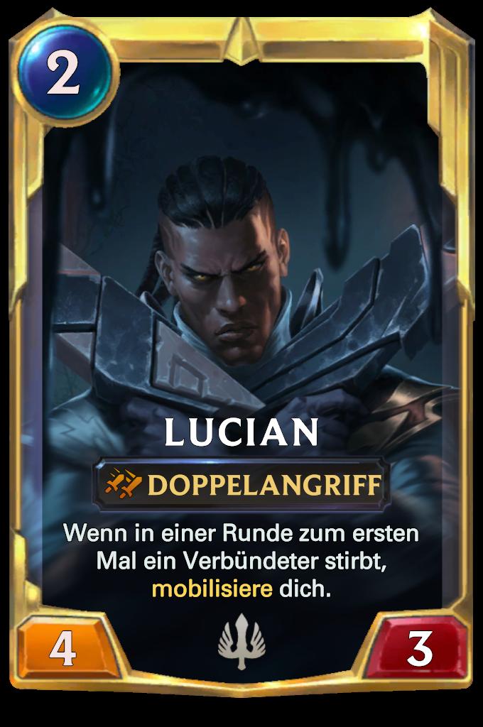 Legends of Runeterra Lucian Card