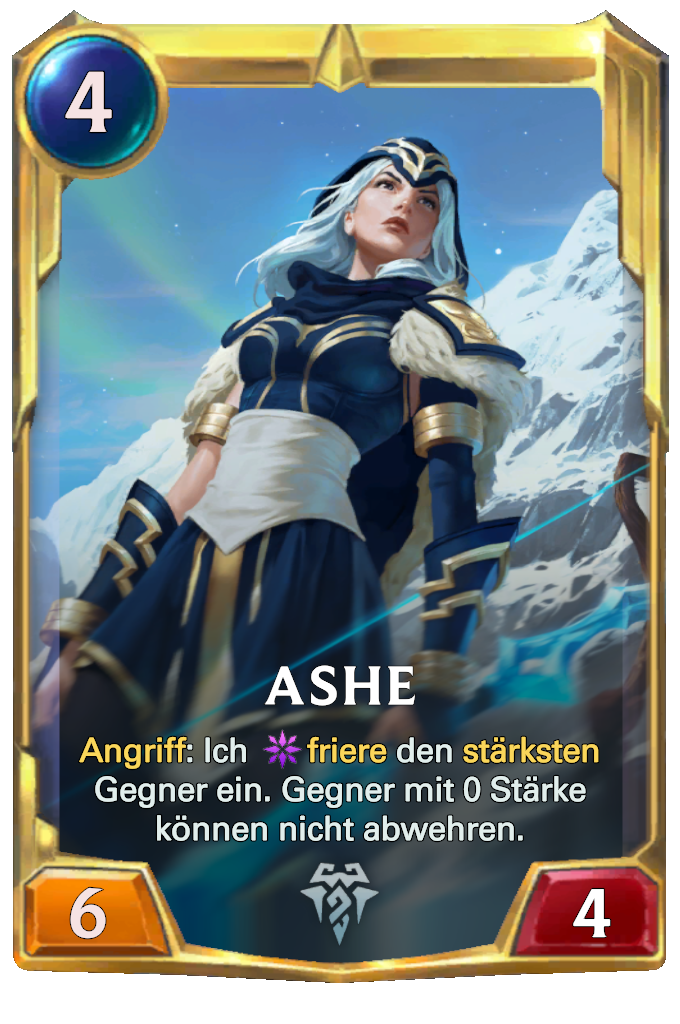 Legends of Runeterra Ashe Card