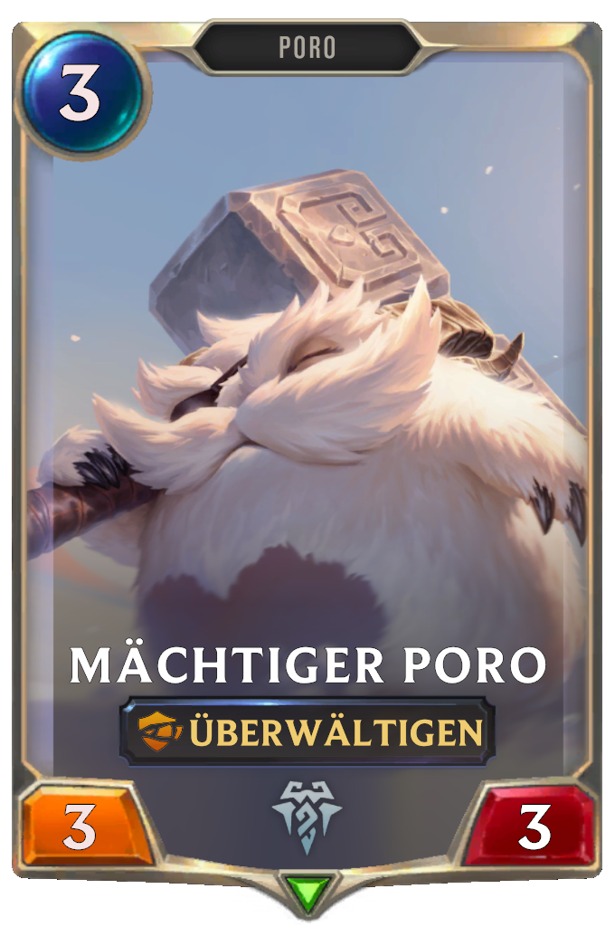 Mighty Poro Card