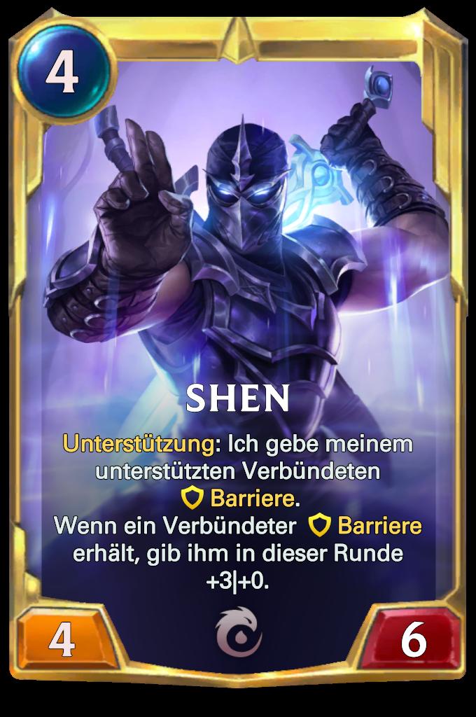 Legends of Runeterra Shen Card