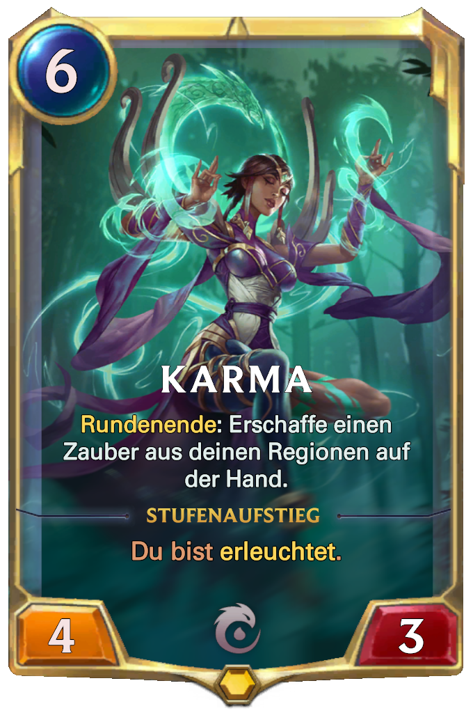 Legends of Runeterra Karma Card