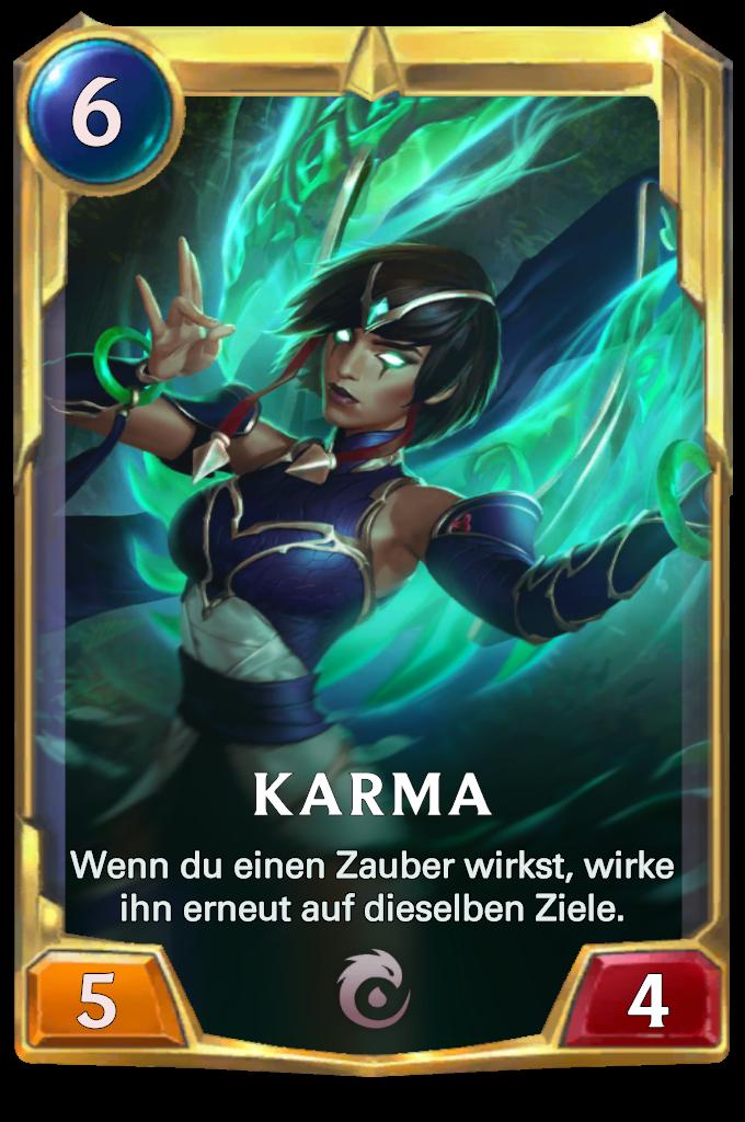 Legends of Runeterra Karma Card