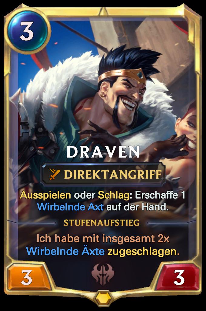 Legends of Runeterra Draven Card