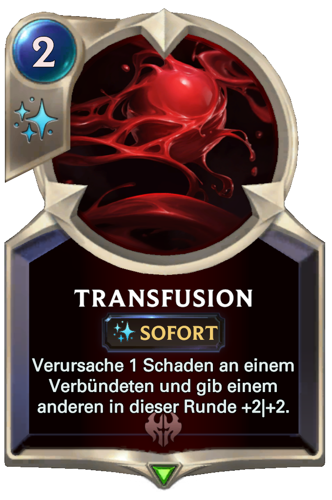 Legends of Runeterra Transfusion Card