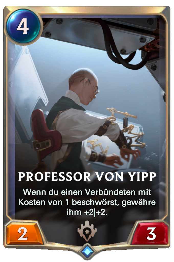 Legends of Runeterra Professor von Yipp Card