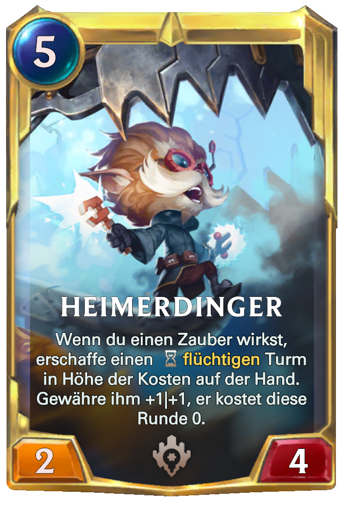 Legends of Runeterra Heimerdinger Card