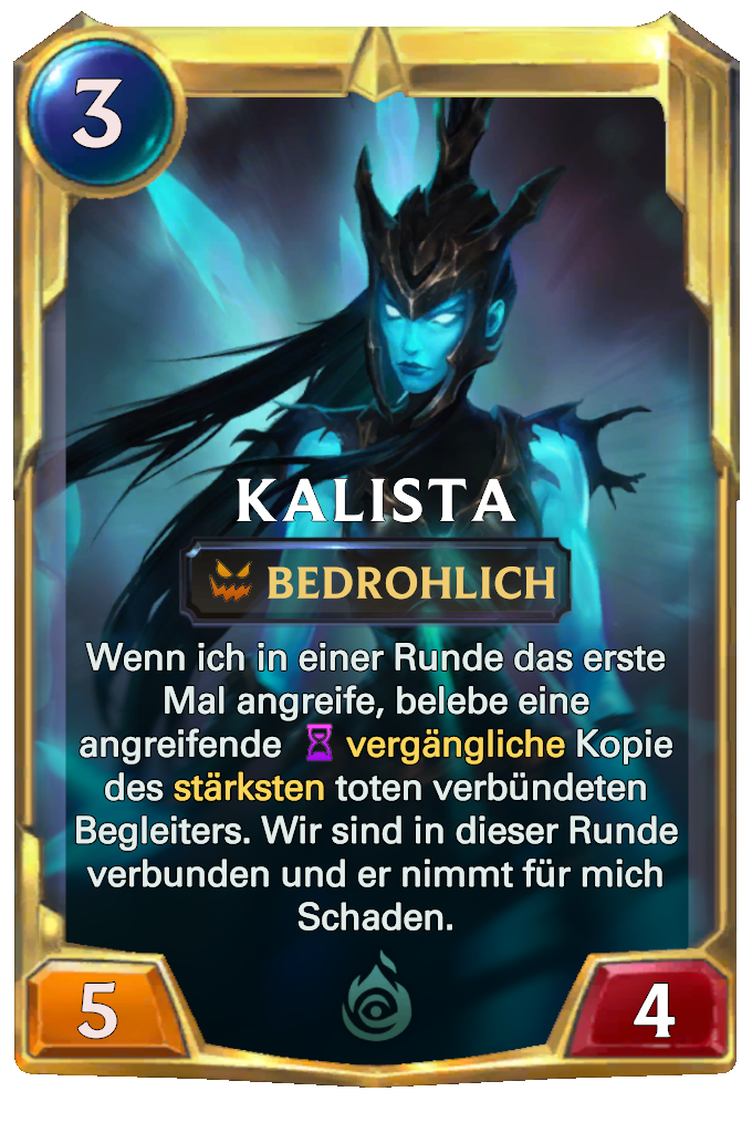 Legends of Runeterra Kalista Card