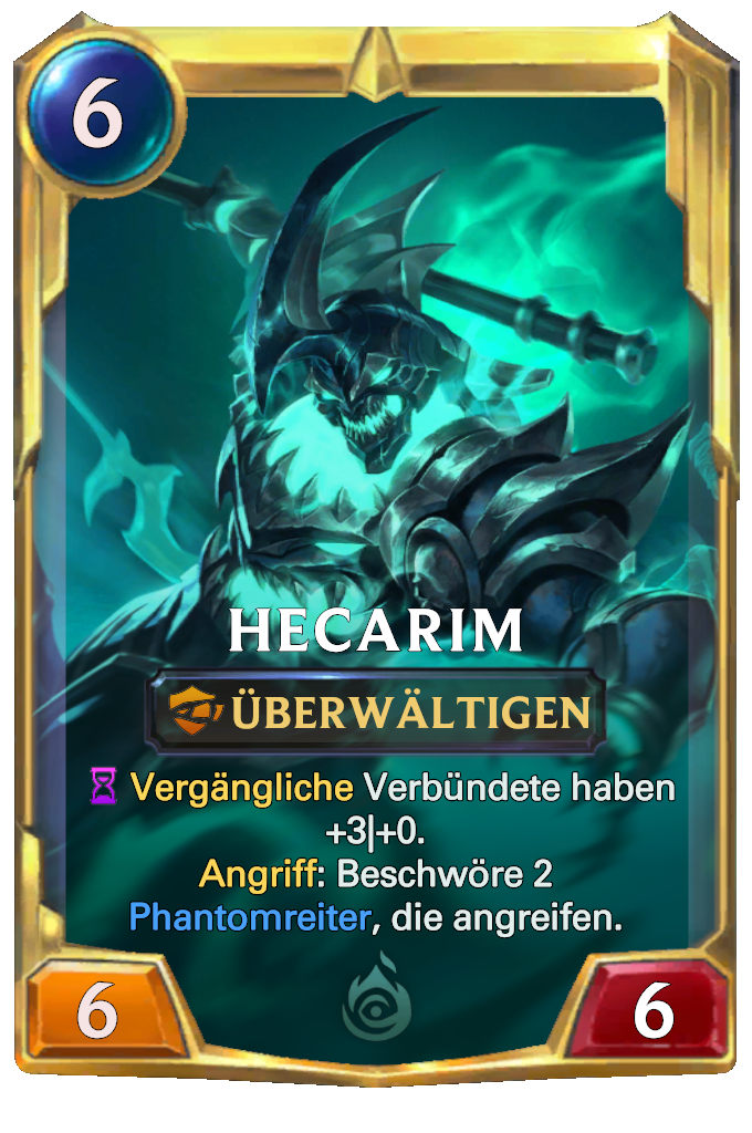 Legends of Runeterra Hecarim Card
