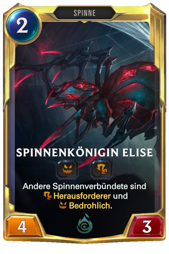 Spider Queen Elise Card