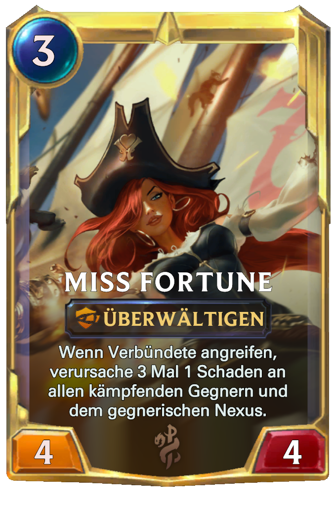 Legends of Runeterra Miss Fortune Card