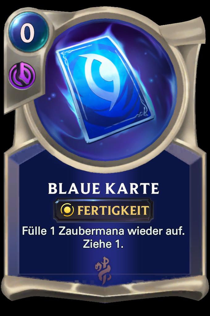 Blue Card Card
