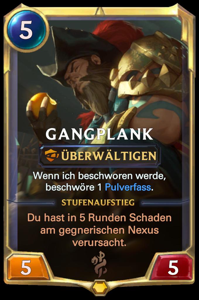 Gangplank Card