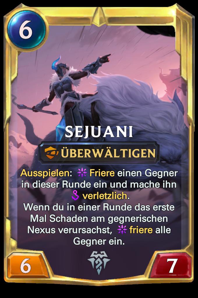 Legends of Runeterra Sejuani Card
