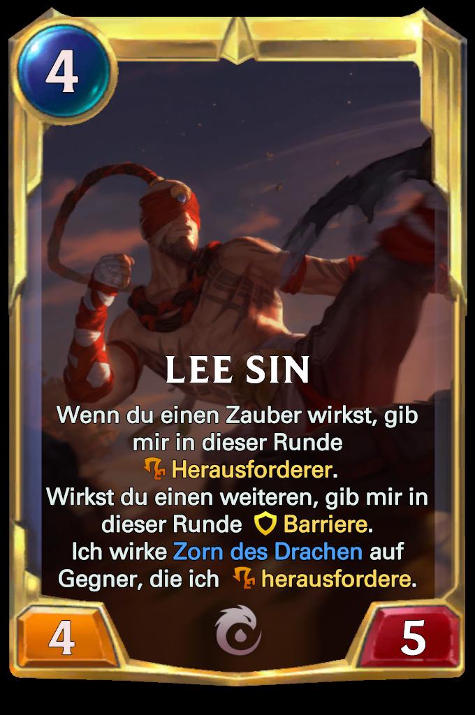 Legends of Runeterra Lee Sin Card
