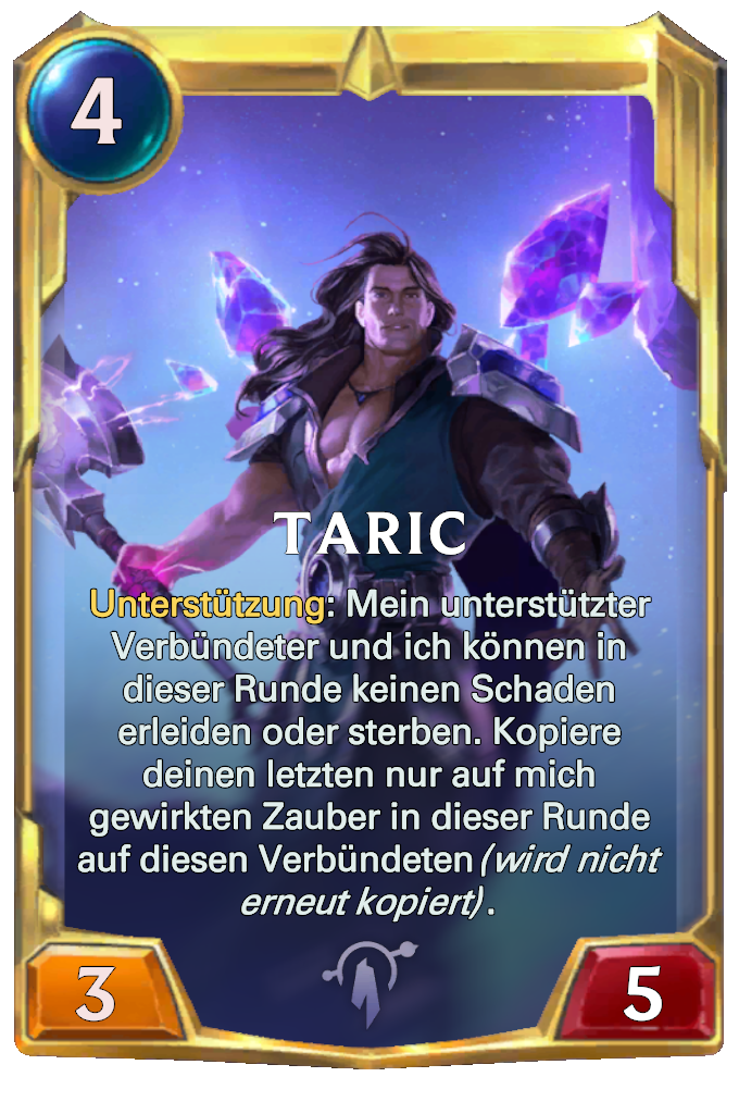Legends of Runeterra Taric Card
