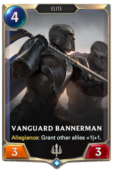 Legends of Runeterra Vanguard Bannerman Card
