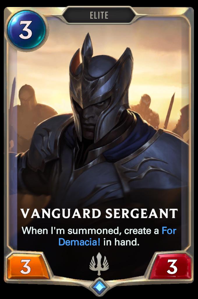 Legends of Runeterra Vanguard Sergeant Card