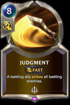 Legends of Runeterra Judgment Card