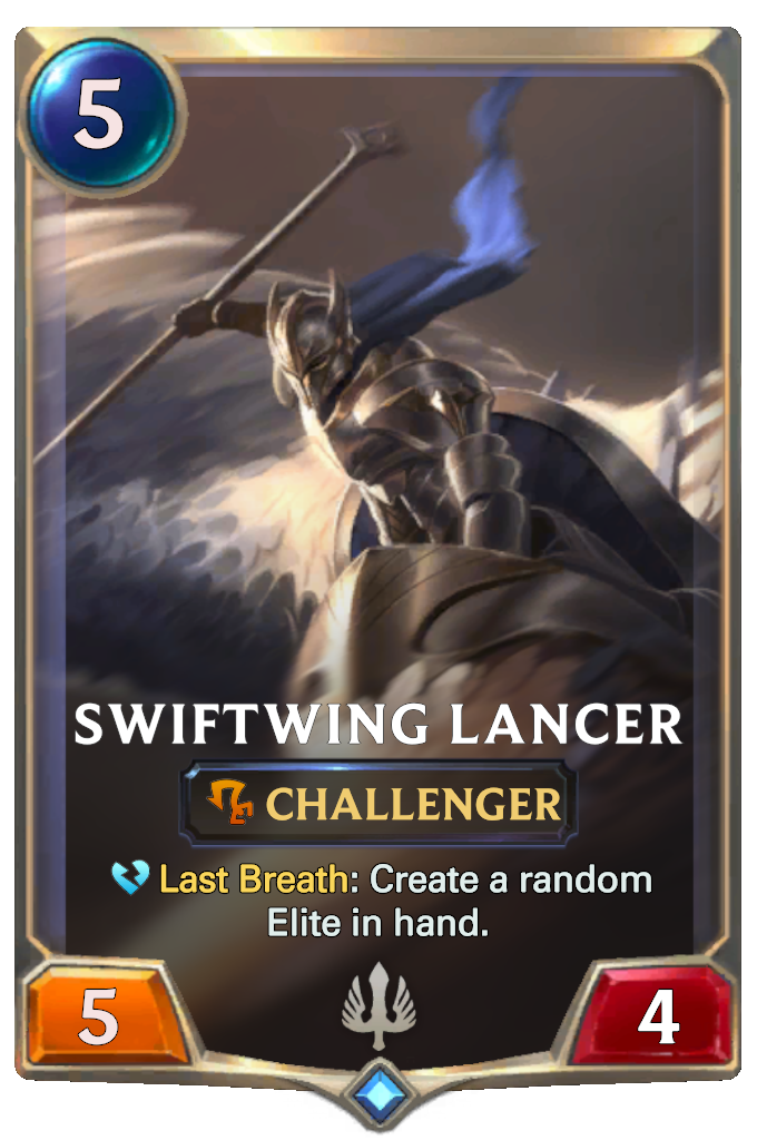 Legends of Runeterra Swiftwing Lancer Card