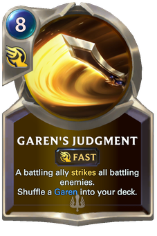 Legends of Runeterra Garen's Judgment Card