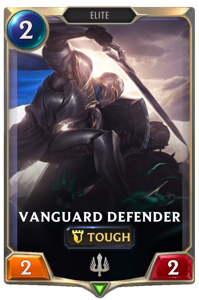 Legends of Runeterra Vanguard Defender Card