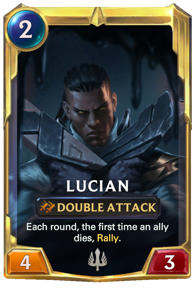 Legends of Runeterra Lucian Card