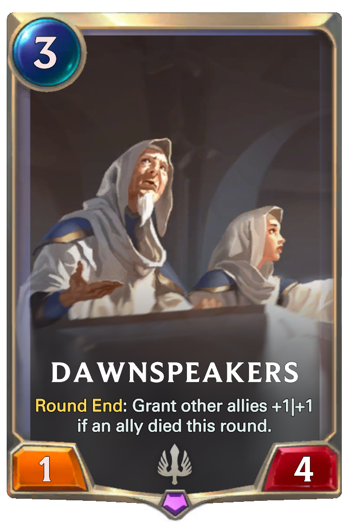 Legends of Runeterra Dawnspeakers Card