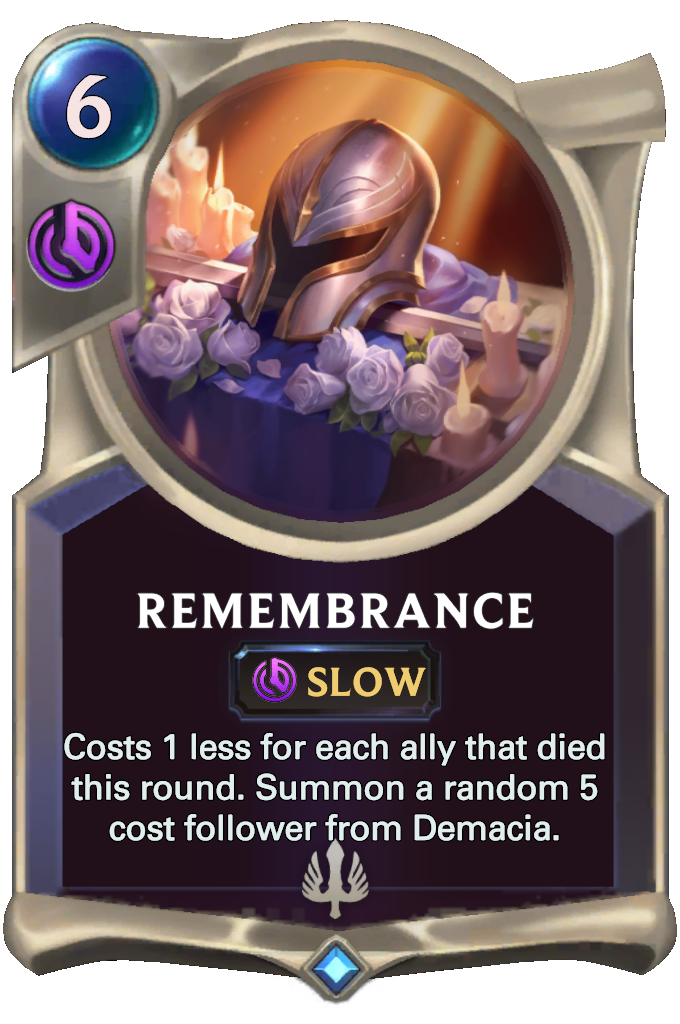 Legends of Runeterra Remembrance Card