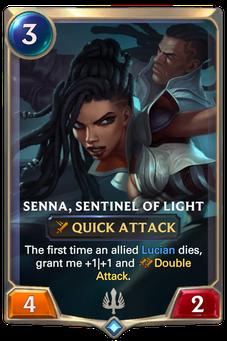 Legends of Runeterra Senna, Sentinel of Light Card