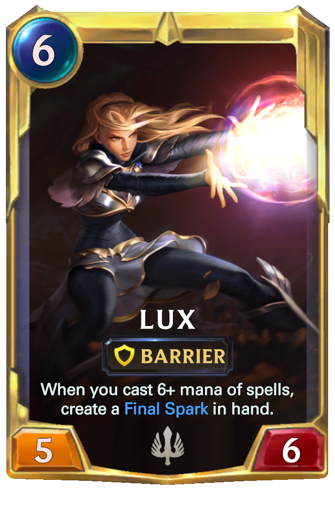 Legends of Runeterra Lux Card
