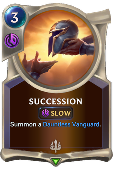 Legends of Runeterra Succession Card