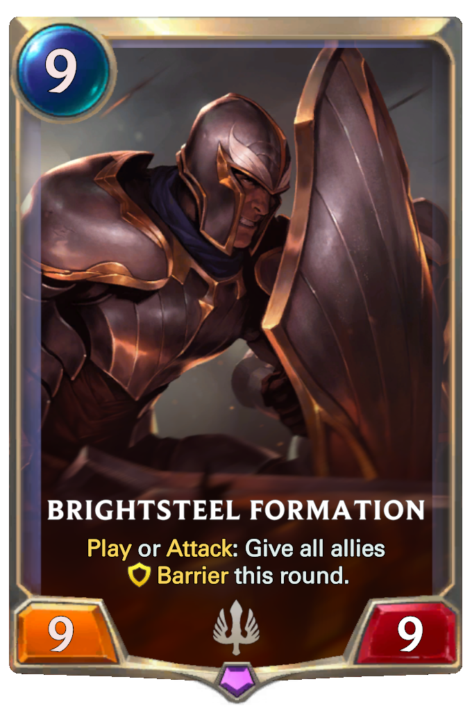 Legends of Runeterra Brightsteel Formation Card