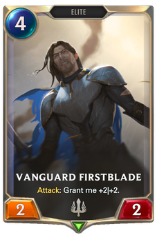 Legends of Runeterra Vanguard Firstblade Card