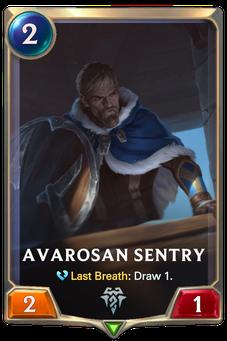 Avarosan Sentry Card Image