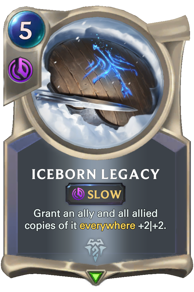 Legends of Runeterra Iceborn Legacy Card