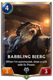 Legends of Runeterra Babbling Bjerg Card