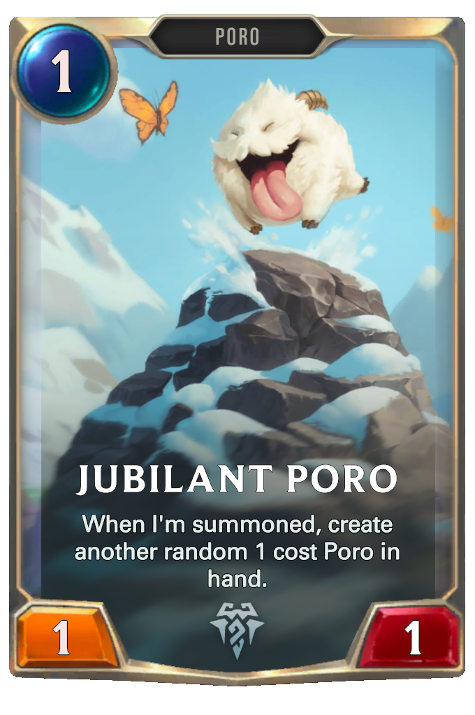 Legends of Runeterra Jubilant Poro Card