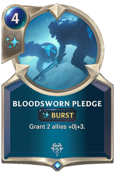Legends of Runeterra Bloodsworn Pledge Card