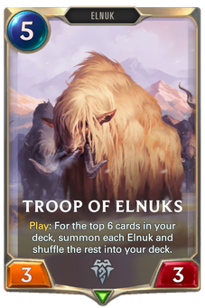 Legends of Runeterra Troop of Elnuks Card