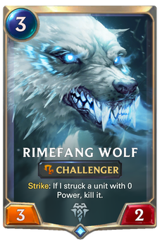 Legends of Runeterra Rimefang Wolf Card