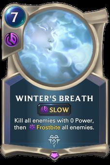 Legends of Runeterra Winter's Breath Card