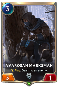 Legends of Runeterra Avarosan Marksman Card