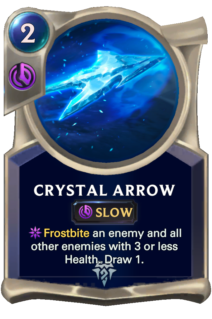 Crystal Arrow Card