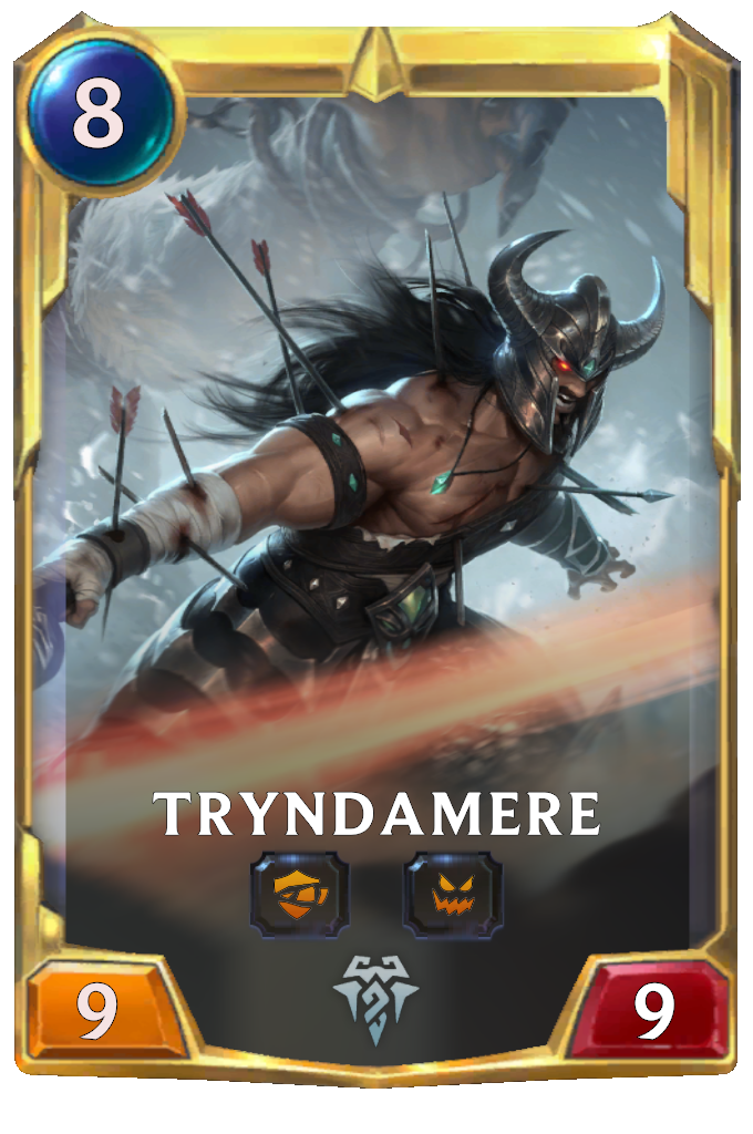 Legends of Runeterra Tryndamere Card