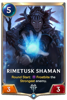 Legends of Runeterra Rimetusk Shaman Card