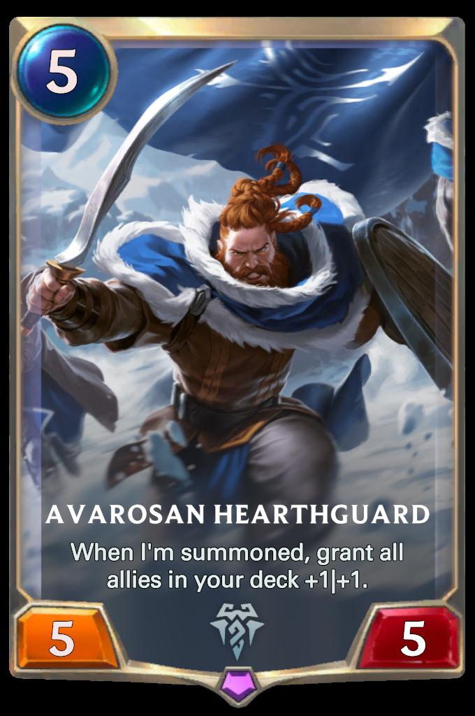 Legends of Runeterra Avarosan Hearthguard  Card