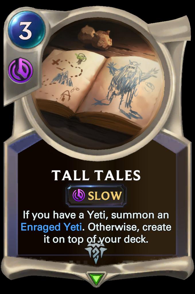 Legends of Runeterra Tall Tales Card