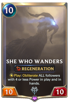 Legends of Runeterra She Who Wanders Card